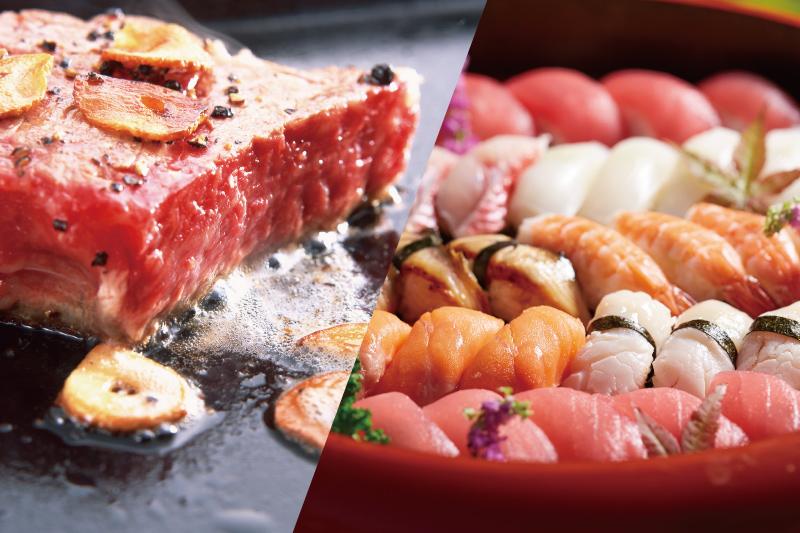 ステーキ&寿司フェア(写真はイメージです)